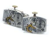 Steampunk Antique 1950's Waltham Watch Cuff Links