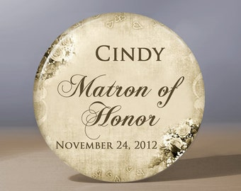 Bridesmaid Gift | Personalized Pocket Mirror | Matron of Honor Gift | Flower Girl Gift | Grandma of the Bride Gift | Bridal Shower Favors