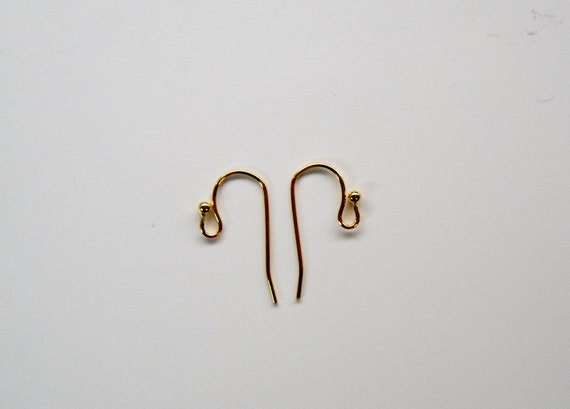 Accenti Gold Ear Wires 10 pairs 20 pieces