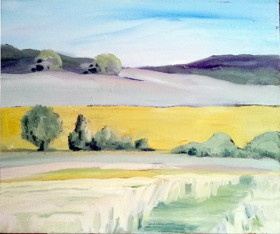CARMEL Valley Impressionist MISTY MORNING Landscape Lynne French o/c Art 16x20 Original Painting