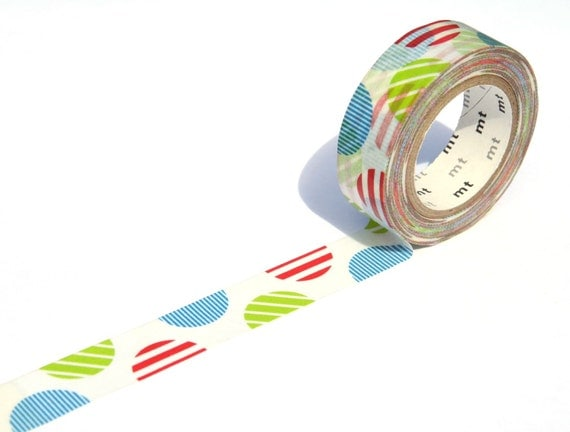 MT Washi Masking Tape -  Arch Red Spots