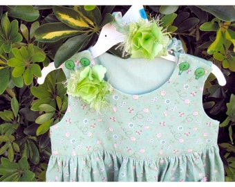 Cotton Knit Dress for Baby with Headband