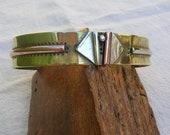 Mixed metals Bracelet - Unisex cuff