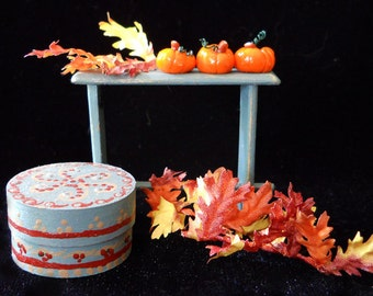 1/12 Scale (Dollhouse) A Trio of Tiny Orange Pumpkins for Halloween, Indoor Fairy Gardens and Autumn Decor