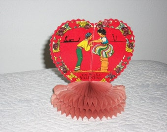 1930s, Fold Up Fan Type, Stand Up, Valentine, Used, Excellent Condition