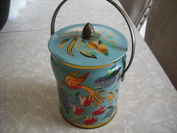 Vintage Tin Candy Murray Allen Bird of Paradise