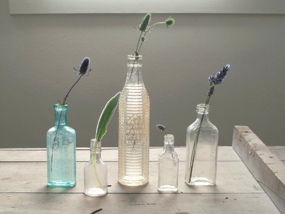 collection of antique bottles (3)