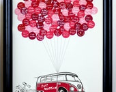 Wedding Guest Book Balloons VW Bus for up to 75 Guests