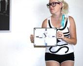 Teen Clock : Hipster Fashion Nail Polish Art Clock For Her