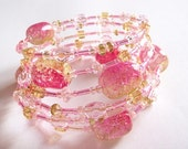 Listing Reserved For ChickyCards - Bonbon Memory Wire Bangle