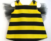 Baby and Toddler Bumble Bee Toddler Costume and Floral Headband 2 Pc Set