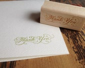 SALE Thank You Calligraphy Stamp for card making and Scrapbooking - Darcy Small