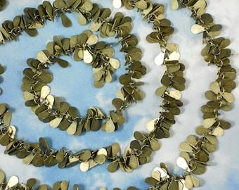 """38"""" Bronze Teardrops Chain Fancy Cluster 9mm Dangles (M111A)"""