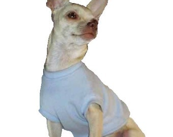 Light Blue Dog Shirt - 4 Sizes Available - Guaranteed to fit   :O)  Exchanges and Returns are Accepted