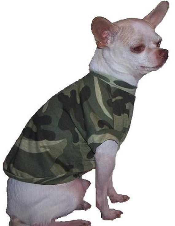 Camo Dog Shirt - 4 Sizes Available - XXXS - XXS - XS - Small  Returns Accepted