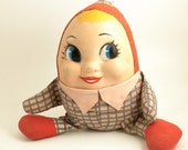 Vintage Humpty Dumpty Doll - 1960s - Mrs Humpty Dumpty - Free Shipping in USA
