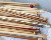 Wood Knitting Needles - Vintage Knitting Needles - Takumi Clover Knitting Needles - Double Pointed - Free Shipping in the USA