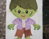 Zombie / Hulk, INSTANT DIGITAL DOWNLOAD, Halloween Embroidery Design for Machine Embroidery 5x7
