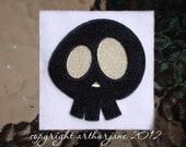 Skull 8, INSTANT DIGITAL DOWNLOAD, Halloween Embroidery Design for Machine Embroidery 4x4