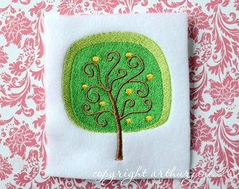 Tree 4, INSTANT DIGITAL DOWNLOAD, Embroidery Design for Machine Embroidery 4x4