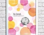 Birth Print For Baby Girl Nursery 16 x 20
