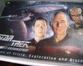 Vintage Star Trek Board Game, The Next Generation Edition, Strategic Game of Trivia Exploration Discovery