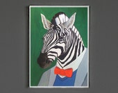 Art Print - Zebra - Signed by Artist -- 8x10 // 16x20 // 22x28