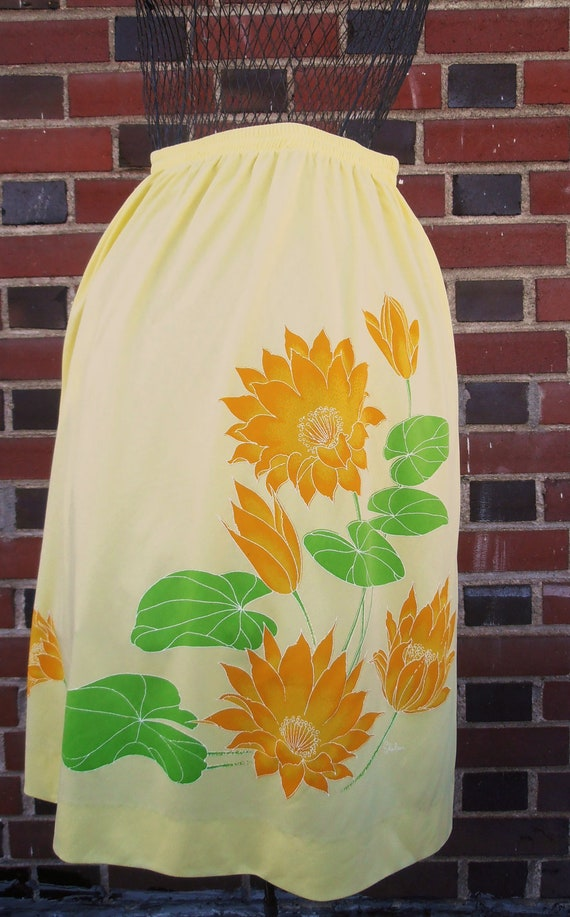 Yellow Miss Shaheen Hawaiian Tropical Summer Skirt S/M