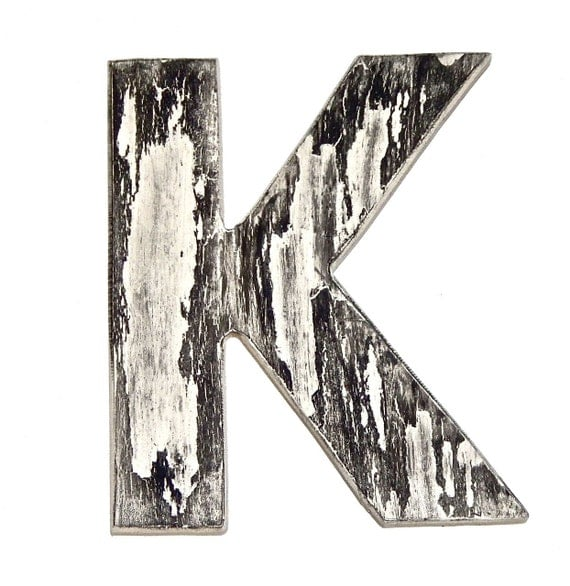 Wall Decor Letter K : Off wall decor letter k marble vintage by holesinthewood