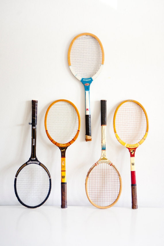 Vintage Tennis Rackets // Three Available - Choose Your Favorite One