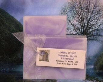 KARMIC RELIEF Soap Chamomile, Cedarwood & Lavender Scented Handmade Soap