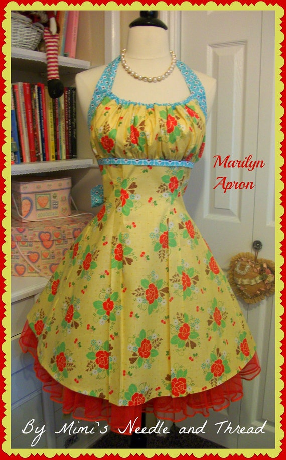 The Marilyn Apron a pin up girl apron