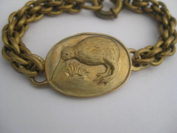 Kiwi Bird Cameo bracelet