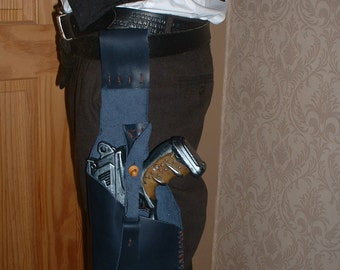 Steampunk Nerf  Maverick Leftie Pistol Holster