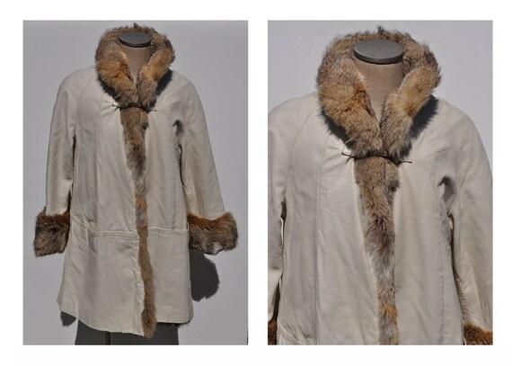 BONNIE CASHIN vintage LEATHER coat fur jacket sills 1960s