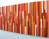 Orange Wall Art, Wood Wall Art, Wood Sculpture, Modern Decor, Home And Living