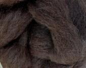 Alpaca Rovings, Dark Brown, 4 oz, Pasqualena