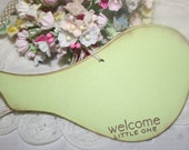 Baby Shower Wish Tree Tags - Lime Green Birds - Neutral Baby - Set of 12
