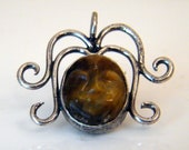Tiger eye carved face woman of virtue  lady