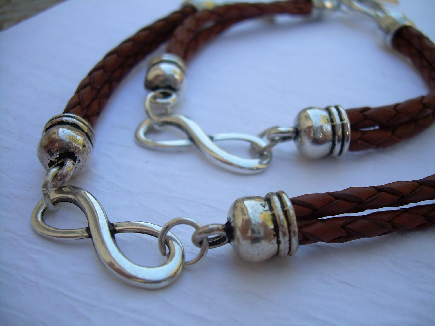 Couples Bracelet His And Hers Set Of Infinity Bracelets