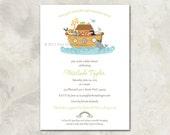 "Baby Shower Invitation - ""Noah's Ark"""