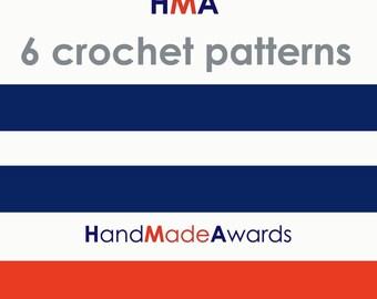 SIX HandMadeAwards CROCHET PATTERNS- Pdf