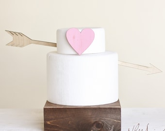 Arrow Wedding Cake Topper Shabby Chic Wedding Decor (Item Number 140127)