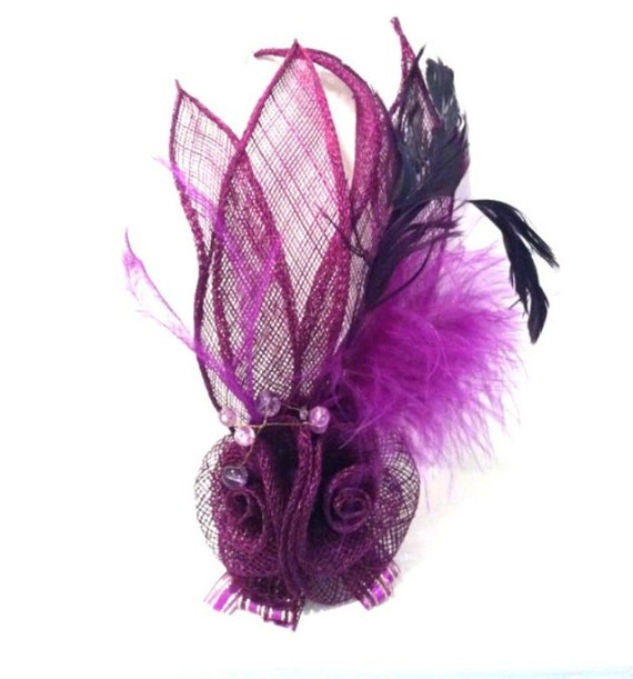 Purple Fascinator Top Hat for Bachelorette Or Costume Party
