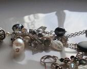 Tassel Pendant Necklace Charm Necklace Pearl Necklace Black Tassel Pendant Sterling Silver Tassel Gemstone Pendant