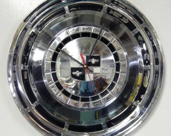 Studebaker Hubcap Clock - 1957 - 1958 Champion Commander President Wall Clock - Retro Garage Decor