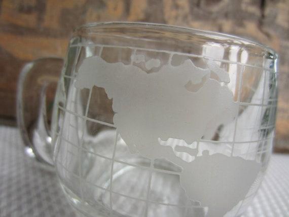 Vintage Nestle Globe Glass Mug World In Your Hands -