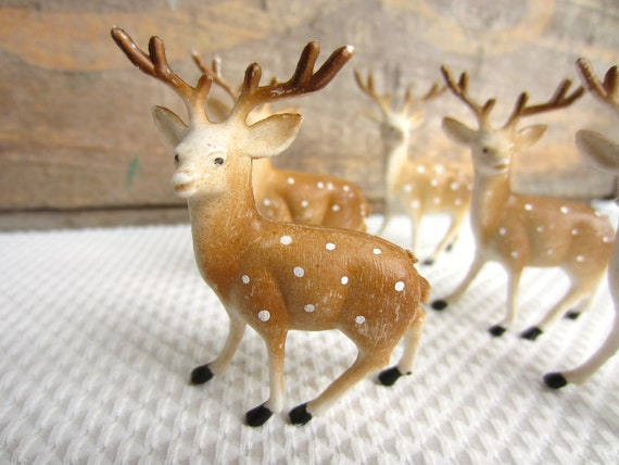 Vintage Miniature Antlered Deer Made in Hong Kong