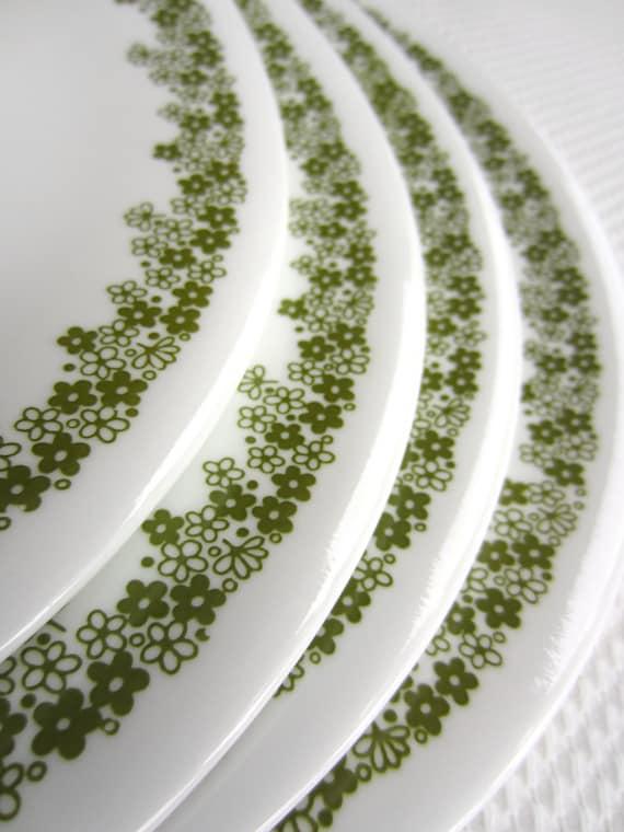Vintage Corelle Spring Blossom Salad Plates set of 4
