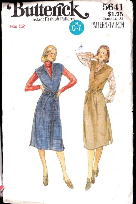 dress jumper drawstring sewing pattern Vintage Butterick 5641 misses size 12
